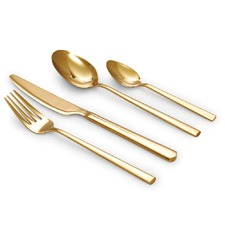 16 Piece Gold Host Cutlery Set