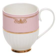Eclectic Pink Ribbed Mug (Set of 2)