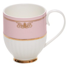 Salt & Pepper Eclectic Pink Ribbed Mugs (Set of 2)
