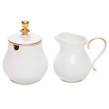 Eclectic Sugar Bowl & Creamer Set