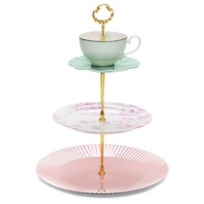Salt & Pepper Eclectic 3 Tier Cake Stand