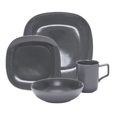 16 Piece Charcoal Shade Dinner Set
