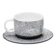 Black Raww Cup & Saucer (Set of 6)
