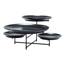 Black 4 Tier Skyline Platter