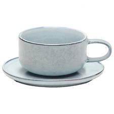 Relic Stoneware Tea Cup & Saucer Set (Set of 2)