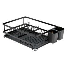 Large Black Sublime Dish Rack & Tray