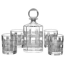 Salt & Pepper Bond Whisky Glasses & Decanter Set (Set of 5)
