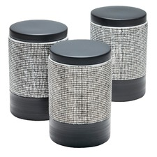 800ml Black Raww Stoneware Canisters (Set of 3)