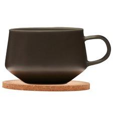 260ml Navian Coffee Cup & Cork Coaster Set (Set of 2)