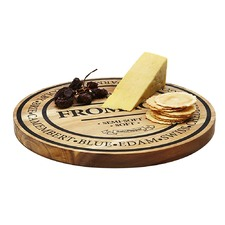 Salt & Pepper Small Round Wooden Fromage Board