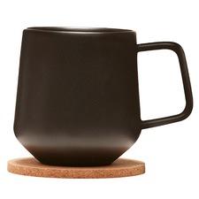 Black Navian Ceramic Mugs & Cork Coasters (Set of 2)