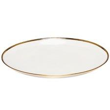 Round Gold Trim Valencia Glass Platter