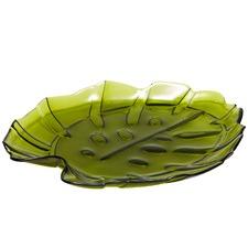 Green Monstera Glass Miami Platter