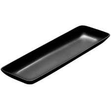 48cm Matt Black Serving Platter (Set of 2)