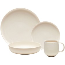 16 Piece Off-White Form Porcelain Dinner Set