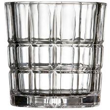 Salt & Pepper Bond Grid Glass Tumblers (Set of 4)