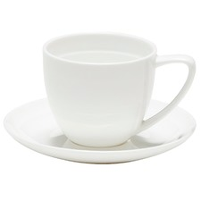 Salt & Pepper Edge 100ml Bone China Espresso Cup & Saucer (Set of 6)