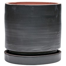 Black Element Terracotta Planter