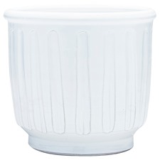 White Grace Terracotta Floor Planter