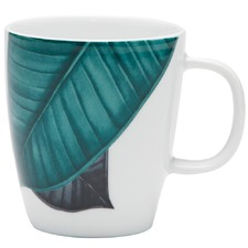 350mL Green Fleur Mugs (Set of 4)