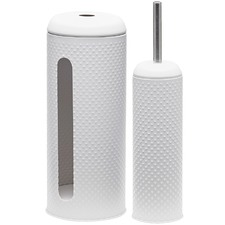 Salt & Pepper Spot Toilet Brush & Roll
