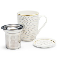 300mL Feather Luxe Mug & Strainer