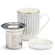 300mL Linear Luxe Mug & Strainer