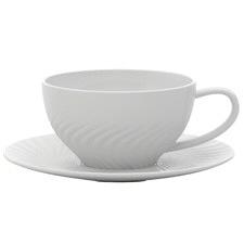 220mL Helix Teacup & Saucer