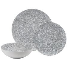 12 Piece Crackle Porcelain Dinner Set