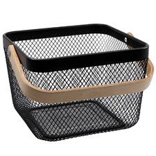 Ebony Iron & Bamboo Basket