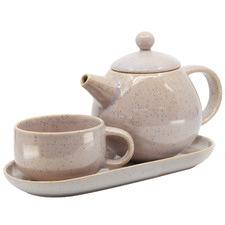 3 Piece Pink Kumo T4Me Teapot Set