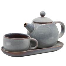 Salt & Pepper 3 Piece Shell Kumo T4Me Teapot Set
