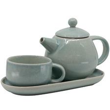 Salt & Pepper 3 Piece Mint Kumo T4Me Teapot Set