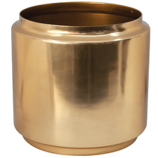 Salt & Pepper Gold Halcyon Metal Planter