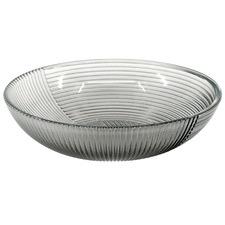 Smoke Lago 27cm Glass Salad Bowl