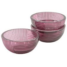 Plum Lago 12cm Glass Bowls (Set of 3)