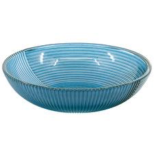 Blue Lago 27cm Glass Bowl