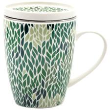 Green Versico Mug with Tea Strainer & Lid