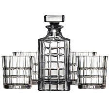 5 Piece Bond Lined Glass Drinkware Set