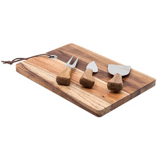 4 Piece Epicure Cheese Knives & Serving Board Set