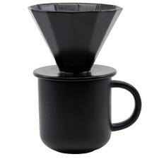 2 Piece Black Brew Mug & Pour-Over Coffee Set