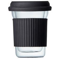 Brew Double Wall 285ml Glass Travel Mug