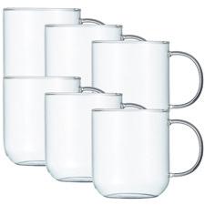 Brew 380ml Glass Mugs (Set of 6)