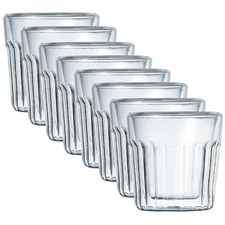Brew Crinkle Double Wall 85ml Espresso Glasses (Set of 8)
