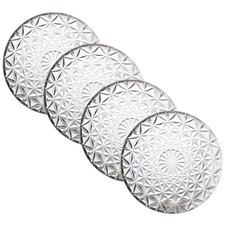 Milan Glass Plates (Set of 4)