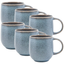 Petrol Naoko 380ml Stoneware Mugs (Set of 6)