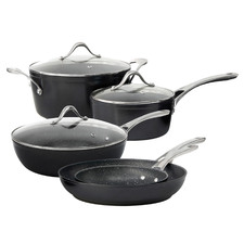 Salt & Pepper 5 Piece Tan-Ium Aluminium Cookware Set