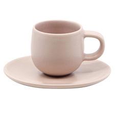 Salt & Pepper Pink Hue 85ml Espresso Cups & Saucers (Set of 6)