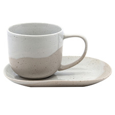 Salt & Pepper Cream Roam 240ml Teacups & Saucers (Set of 6)