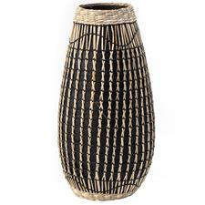 Salt & Pepper Black & Natural Gallery Vase